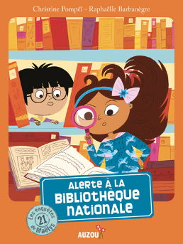 Picture shows the cover of the book, with Maëlys and Lucien.
