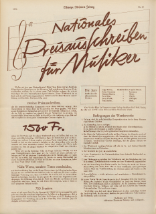 """National Prize Competition for Musicians"", Schweizer Illustrierte Zeitung, No. 43, 23 October 1935"