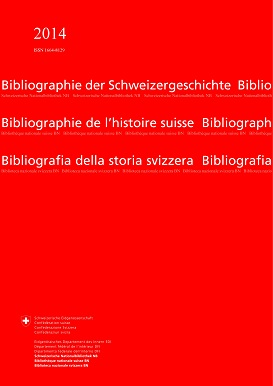 Cover of the 2014 Annual Report of the Bibliography on Swiss History